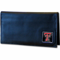 Texas Tech Leather Checkbook Cover - BACKORDERED