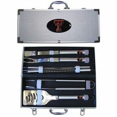 Texas Tech Red Raiders 8pc BBQ Set - BACKORDERED