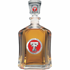 Texas Tech Red Raiders Glass Capital Decanter
