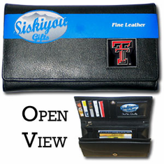 Texas Tech Red Raiders Leather Ladies Wallet - BACKORDERED