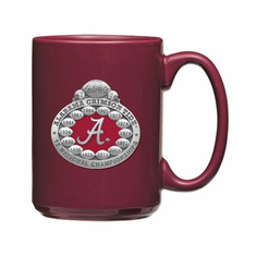 University of Alabama 2012 National Championship Coffee Mug - Crimson