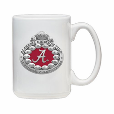 University of Alabama 2012 National Championship Coffee Mug - White