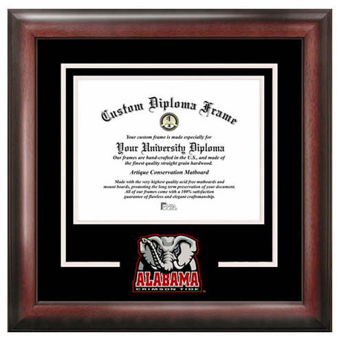 University of Alabama Spirit Diploma Frame