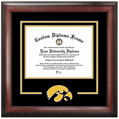 University of Iowa Spirit Diploma Frame