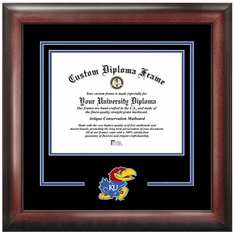 University of Kansas Spirit Diploma Frame