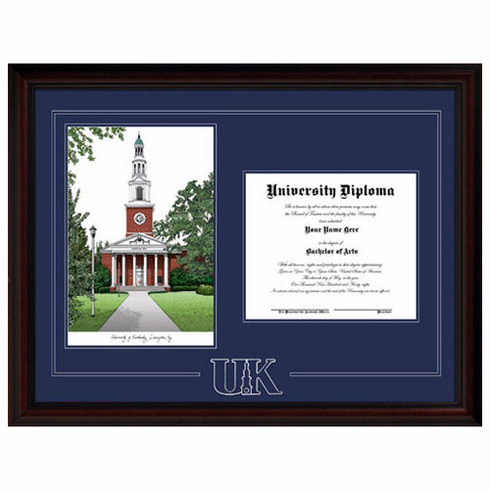 University of Kentucky Framed Spirit Graduate Lithograph