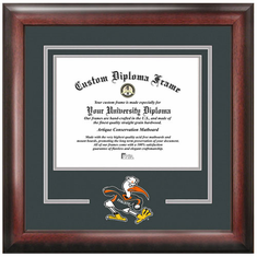 University of Miami Spirit Diploma Frame