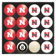 University of Nebraska Home & Away Billiard Ball Set