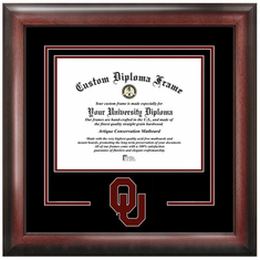University of Oklahoma Spirit Diploma Frame