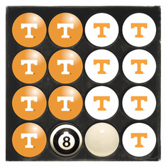 University of Tennessee Home & Away Billiard Ball Set
