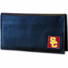 USC Leather Checkbook Cover - BACKORDERED