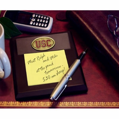 USC Trojans Desk Memo Pad Paper Holder