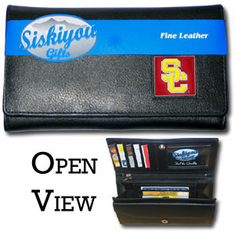 USC Trojans Leather Ladies Wallet - BACKORDERED