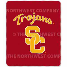 USC Trojans Light Weight Fleece Blanket