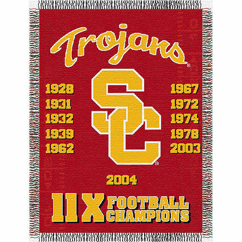 USC Trojans National Championship Tapestry Throw