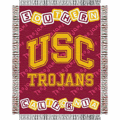 USC Trojans Triple Woven Jacquard  Baby Throw