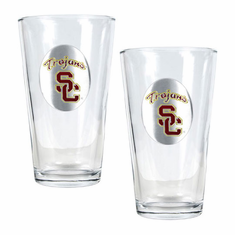 USC Trojans Two Piece Pint Ale Glass Set - BACKORDERED
