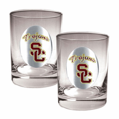 USC Trojans Two Piece Rocks Glass Set - BACKORDERED