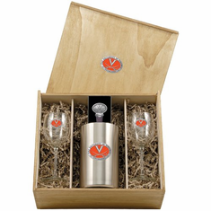 Virginia Cavaliers Wine Set Box