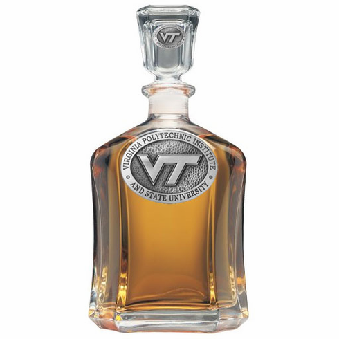 Virginia Tech Hokies Glass Decanter