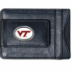 Virginia Tech Leather Cash and Card Holder - BACKORDERED