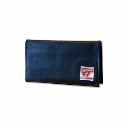 Virginia Tech Leather Checkbook Cover - BACKORDERED