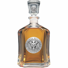VMI Keydets Glass Capital Decanter