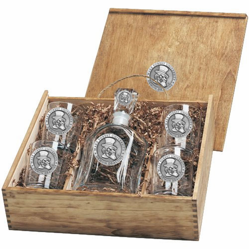 Wake Forest Demon Deacons Capital Decanter Box Set