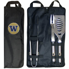 Washington Huskies 3pc Stainless Steel BBQ Set w/ Bag - BACKORDERED