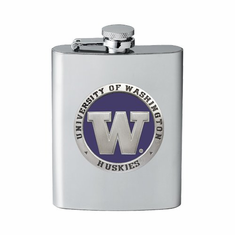 Washington Huskies Flask