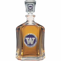 Washington Huskies Glass Capital Decanter