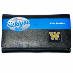 Washington Huskies Leather Ladies Wallet - BACKORDERED