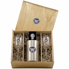 Washington Huskies Wine Set Box