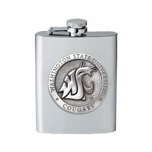 Washington State Cougars Flask