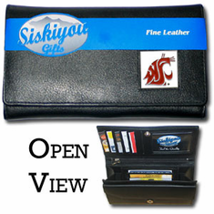 Washington State Cougars Leather Ladies Wallet