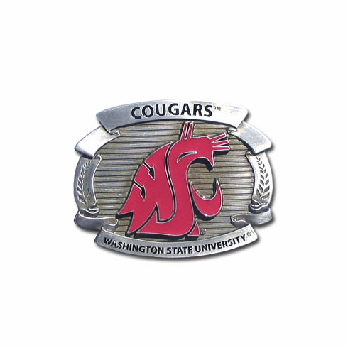 Washington State Cougars Oversized Belt Buckle - BACKORDERED