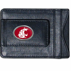 Washington State Leather Cash and Card Holder - BACKORDERED