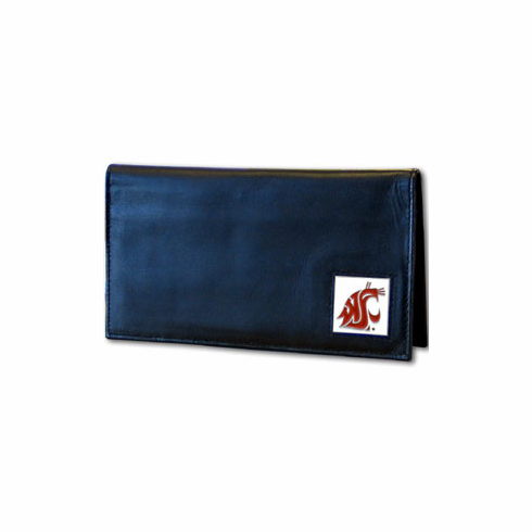 Washington State Leather Checkbook Cover