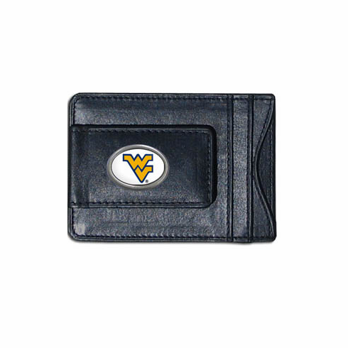West Virginia Leather Cash and Card Holder - BACKORDERED