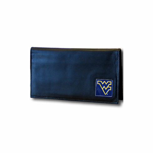 West Virginia Leather Checkbook Cover - BACKORDERED