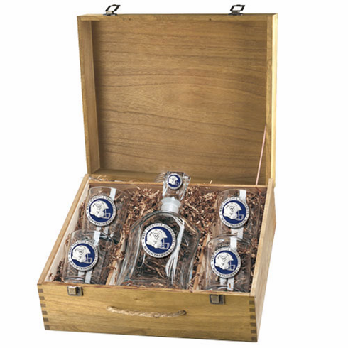West Virginia Mountaineers Capital Decanter Box Set