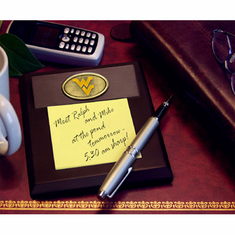 West Virginia Mountaineers Desk Memo Pad Paper Holder