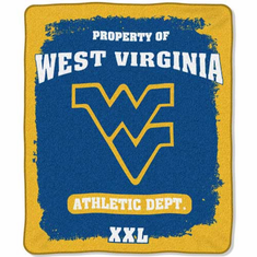 West Virginia Mountaineers Property of Raschel Blanket