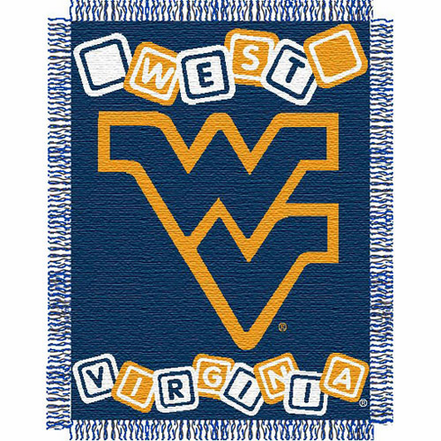West Virginia Mountaineers Triple Woven Jacquard Baby Throw