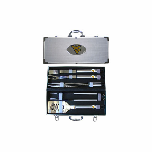 West Virginia Moutaineers 8pc BBQ Set - BACKORDERED