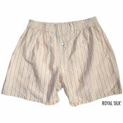 Biscuit Stripes Silk Boxers