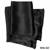 Black Silk Aviator Scarf