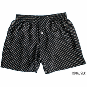 Black Star Print Silk Boxers