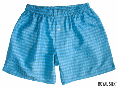 Boy Blue Checks Silk Boxers