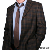 Brown Skinny Silk Tie